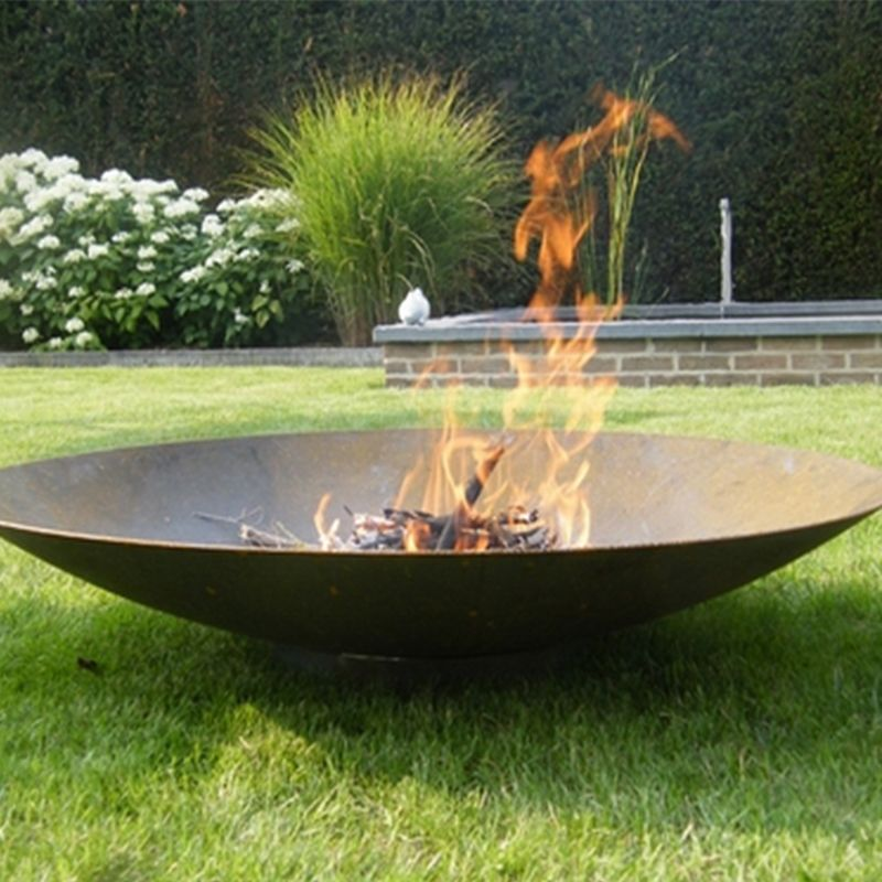 Corten Steel Fire Pit 100cm - Corten Steel Fire Pit 100cm Petal Vale - Garden And Wildlife Store
